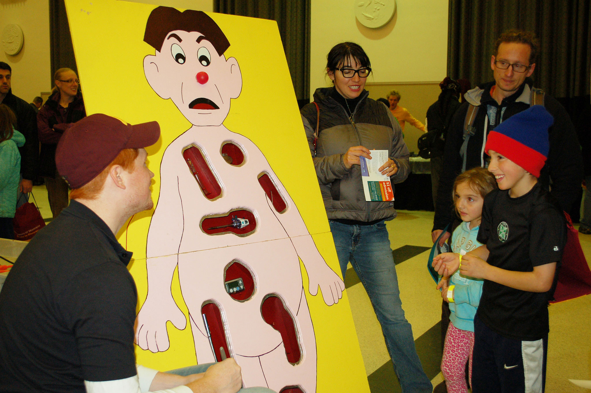 K-12 outreach with life size Operation game