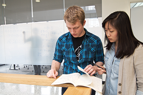 Students working in Physics lab