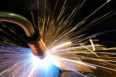 Sparks flying from welding