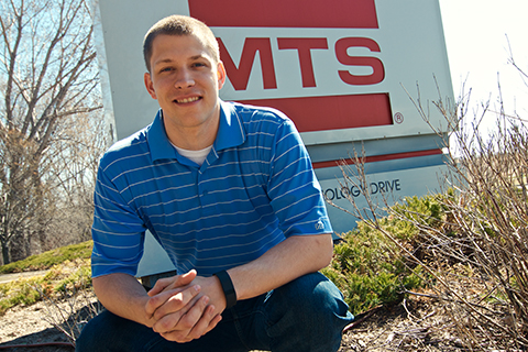 head shot of Brian Amundson: Engine power by MTS logo