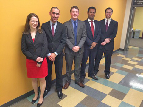group shot of 2015 U of M Global Health Case Competition winning team