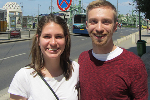 Katarina Kamenar and Matt Krueger in Budapest