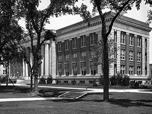 black and white photo of Tate Lab