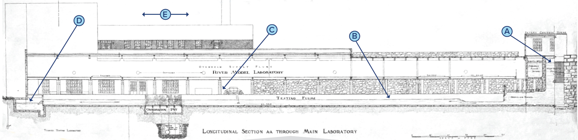 A black-and-white drawing of the SAFL lab.