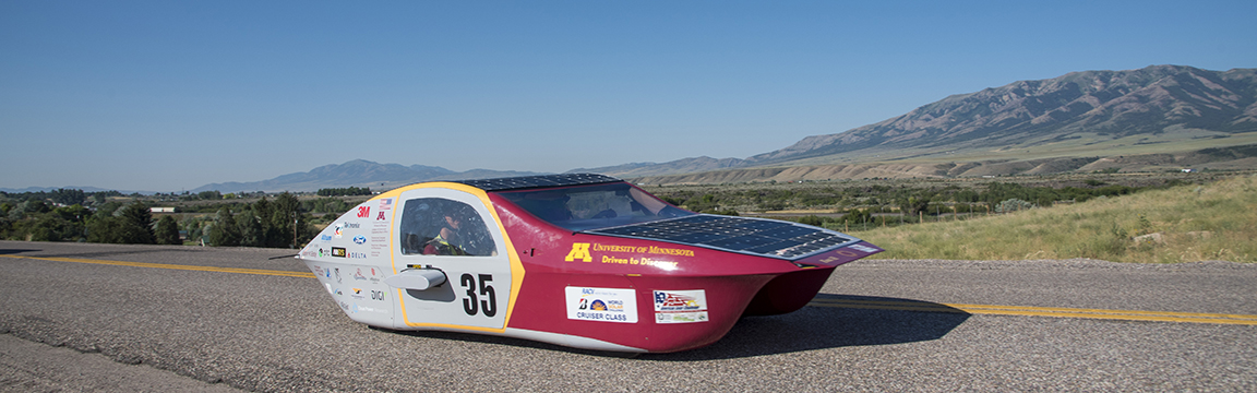 Solar vehicle project on the open road