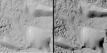 Comparison images of Antarctica elevation maps before and after REMA