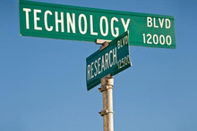 Technology and Research street sign