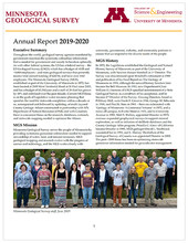Front page of the 2019-2020 MGS Annual Report.